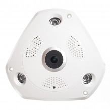 Camera supraveghere video Wireless WiFi AKU interior 360 Panoramic 960P IP 1.3MP infrarosu rezolutie SUPER HD