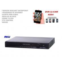 Digital Video Recorder AKU 32 canale D1 real time, analog web browsing audio video H264, iesire internet cu vizualizare pe telefon mobil tableta si desktop