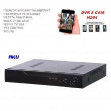 Network Video Recorder AKU 8 canale HD SUPER HD 720P, 3-5M audio video H264 iesire internet cu vizualizare pe telefon mobil tableta si desktop