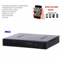 Digital Video Recorder AKU 16 canale audio/video H264 cu LAN